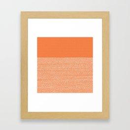 Riverside - Celosia Orange Framed Art Print