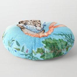 Cute Purrmaid Cat Mermaid Floor Pillow