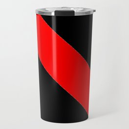 Oblique red and black Travel Mug