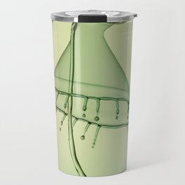 Collisions in green tones Travel Mug