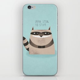 Sneaky Raccoon iPhone Skin