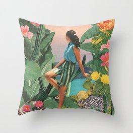 Botanical Cove Throw Pillow