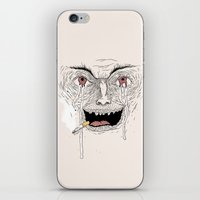 psycho iPhone & iPod Skins featuring Psycho by Davies Babies