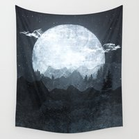 moonrise Wall Tapestries featuring Moonrise by Tracie Andrews