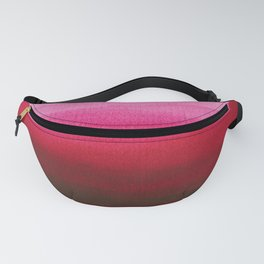 Dip dye in shades of red Fanny Pack