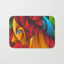 The Queen Cubism Art Bath Mat