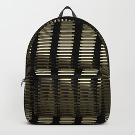 Spinning Columns - Gold - Futuristic Industrial Sci-Fi Pattern Backpack