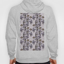 wolves eating pizza pattern Hoody