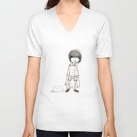 prince V-neck T-shirts featuring Prince by Volkan Dalyan