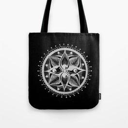Four Eyed Mandala Tote Bag