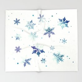 MIDNIGHT SNOWFLAKE PATTERN Throw Blanket