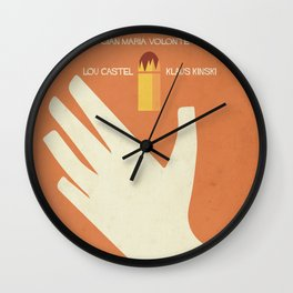 A Bullet for the General, Movie with Klaus Kinski, Gian Maria Volonté. Spaghetti Western Poster Wall Clock