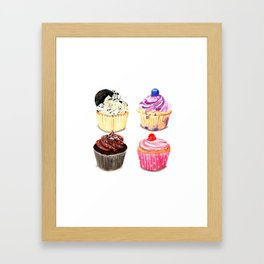 Cupcake selection Framed Art Print