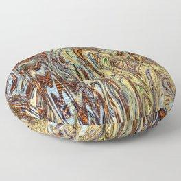 Scramble - Digital Abstract Expressionism Floor Pillow