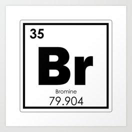 Bromine chemical element Art Print