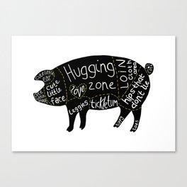 Cuts of Pig Canvas Print