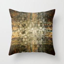 """""""Abstract golden river pebbles"""" Throw Pillow"""