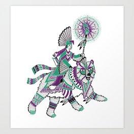 The Bear Rider Art Print