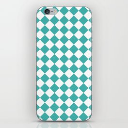 Diamonds - White and Verdigris iPhone Skin