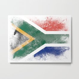 South Africa flag isolated Metal Print