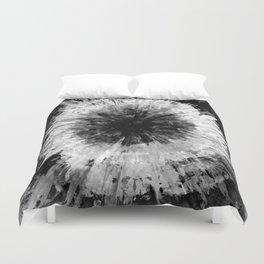 Black and White Tie Dye // Painted // Multi Media Duvet Cover