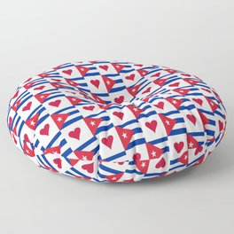 Flag of Cuba 3 -cuban,havana, guevara,che,castro,tropical,central america,spanish,latine Floor Pillow