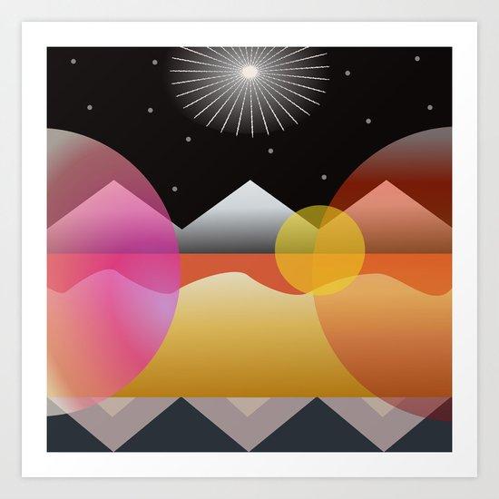 Solar Flares Art Print