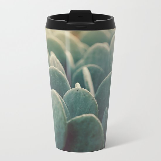 Green + Gold Metal Travel Mug