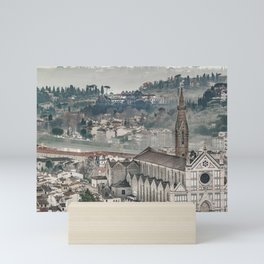 Aerial View Historic Center of Florence, Italy Mini Art Print