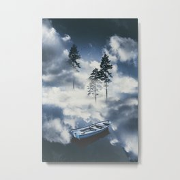Forest sailing Metal Print