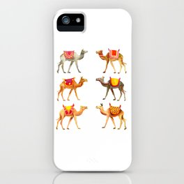 Cute watercolor camels iPhone Case