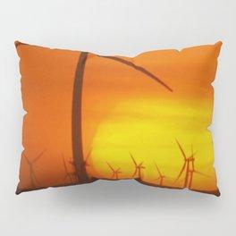 Windmills at Sunset (Digital Art) Pillow Sham