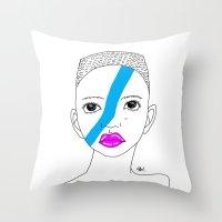 stripe Throw Pillows featuring Stripe by ARAJUA