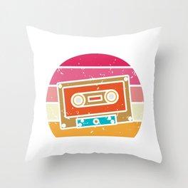 Retro Cassette 90s Lover Gift 80s Costume Throw Pillow