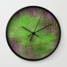 Green Color Fog Wall Clock