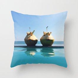 Bali Twin Coconuts Throw Pillow
