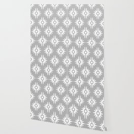 Mid Century Modern Bang Pattern 271 Grey Wallpaper