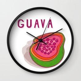 Guava Pop Wall Clock