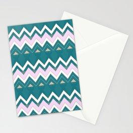 Chevron Mountain Range Stationery Cards