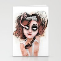 rocky horror Stationery Cards featuring Untitled III by Rouble Rust