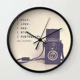 I Photograph Wall Clock