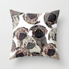 Pug Nation Throw Pillow