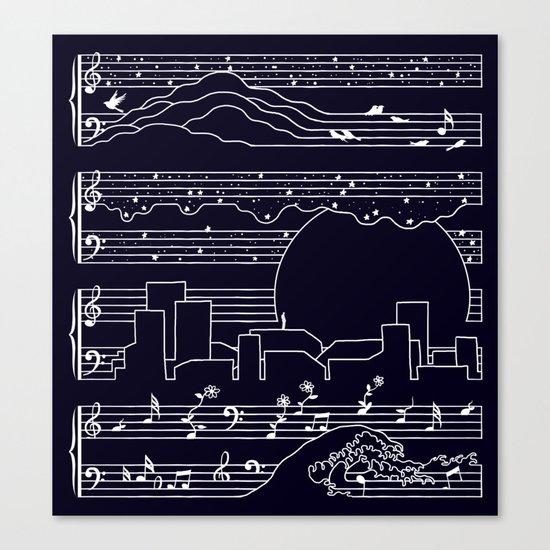 The Moonlight Sonata Canvas Print