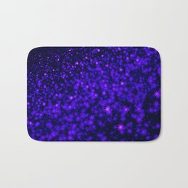 Christmas Blue Purple Night Snowflakes Bath Mat