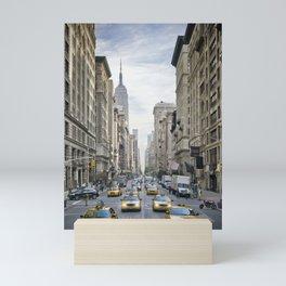 NEW YORK CITY 5th Avenue Street Scene Mini Art Print