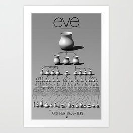 eve and her daughters Art Print