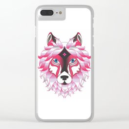 She the Wolf Clear iPhone Case