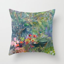 Poppies and Barrow Throw Pillow