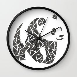Geometric panda Wall Clock