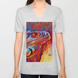 Iguana Watercolor Unisex V-Neck